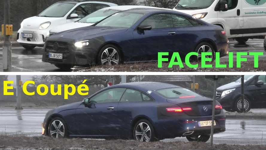 Mercedes E-Class Coupe Can Barely Conceal Its Facelift Anymore