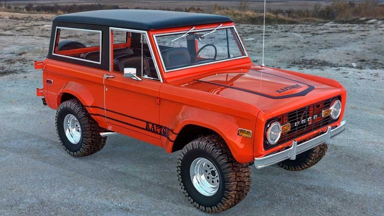 Original Ford Bronco Looks Delicious With Raptor Treatment