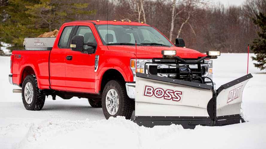 2020 Ford Super Duty's Snow Plow Pack Is Ready To Push Winter Around