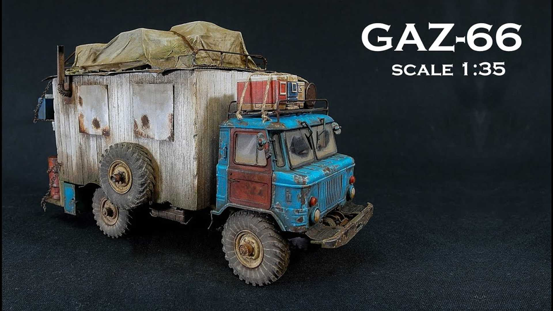 Watch This Incredibly Detailed GAZ Camper Scale Model Come Alive