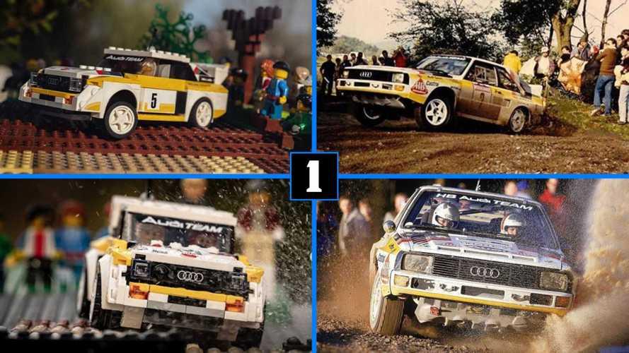 Ce photographe recrée en Lego des scènes de rallye avec l'Audi Quattro