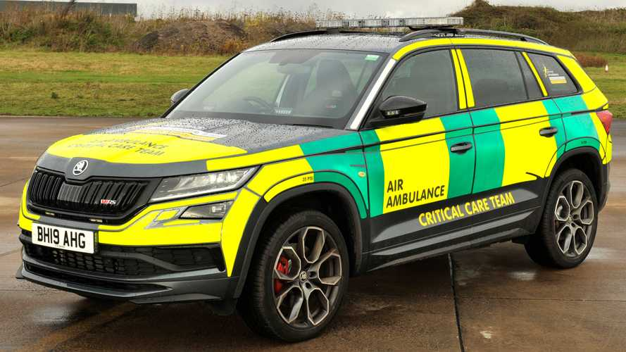 Skoda Kodiaq RS air ambulance service