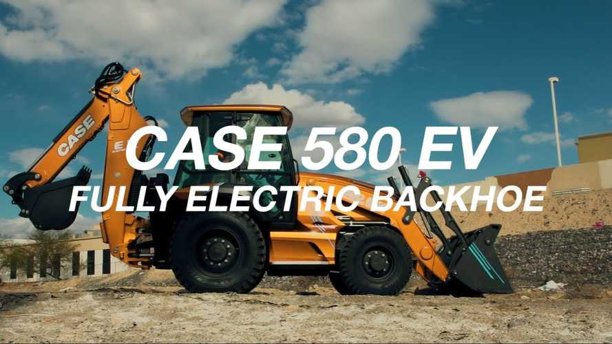 CASE Introduces World's First Fully Electric Backhoe Loader