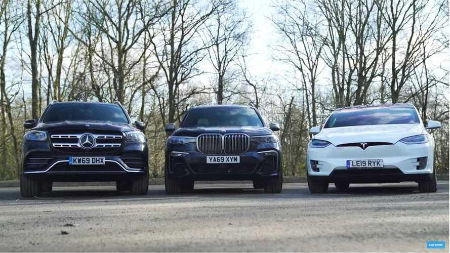 Tesla Model X Vs BMW X7, Mercedes GLS: 3-Row Luxury SUV Race & Review