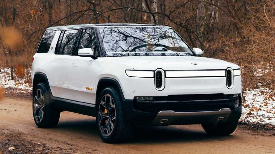 See The Rivian R1S Electric SUV In White For First Time Ever