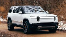 rivian r1s electric suv white paint