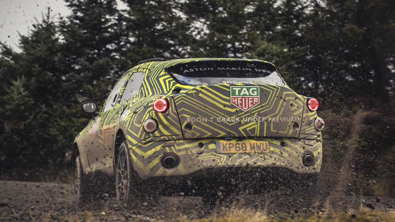 Teasers Aston Martin DBX (fotos oficiales)