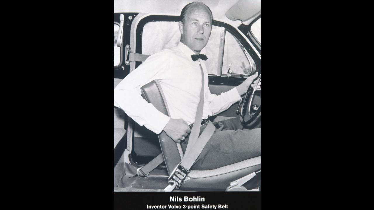 Nils Bohlin, 1959, inventore della cintura di sicurezza a tre punti