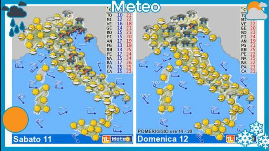 Meteo del fine settimana 11 e 12 maggio: pioggia ad Ovest