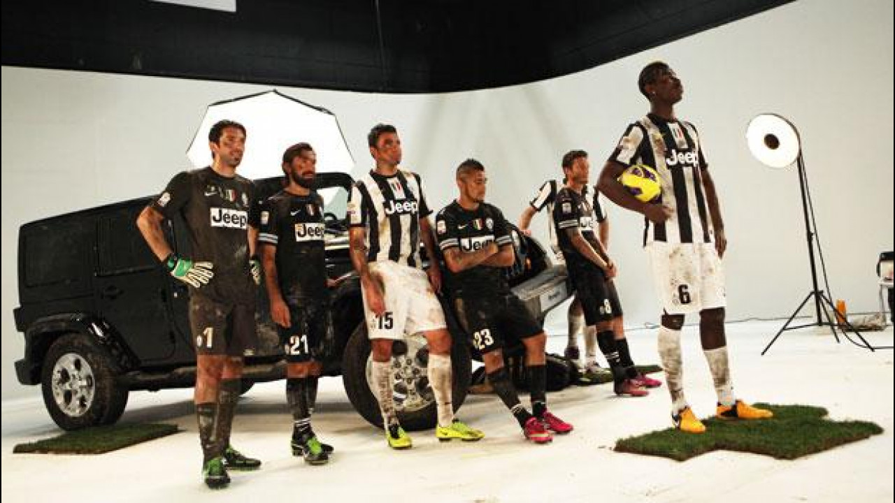 [Copertina] - Jeep Wrangler 2013 sul set con 8 giocatori della Juventus