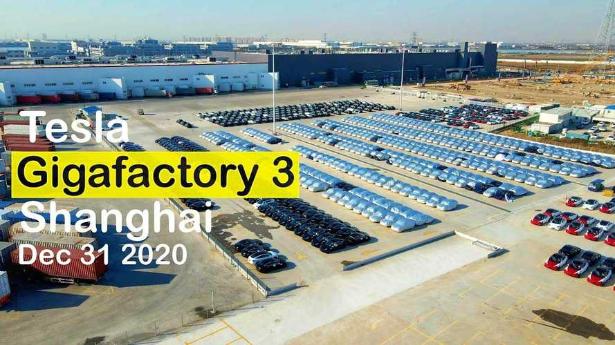 Tesla Giga Shanghai: MIC Model Y Are Flooding Factory's Parking Lot