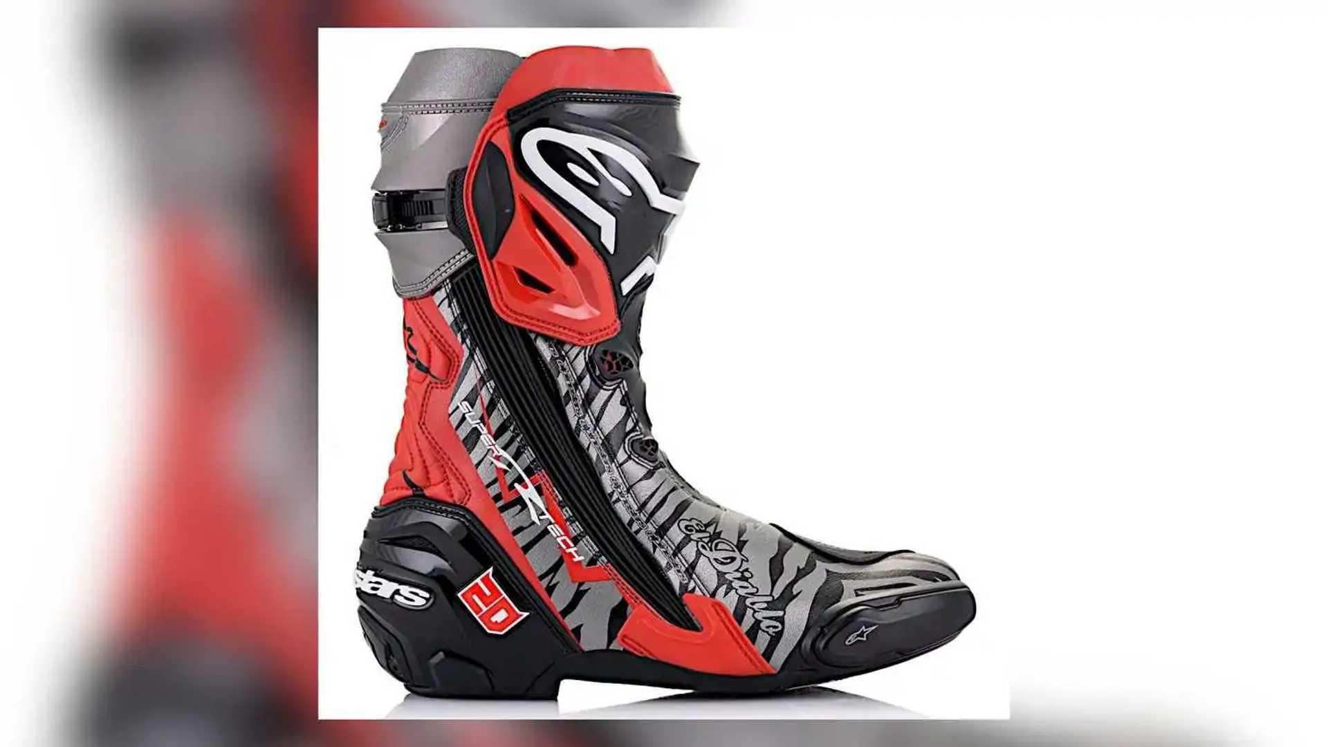 Alpinestars Limited Edition El Diablo Supertech R Right Boot Exterior