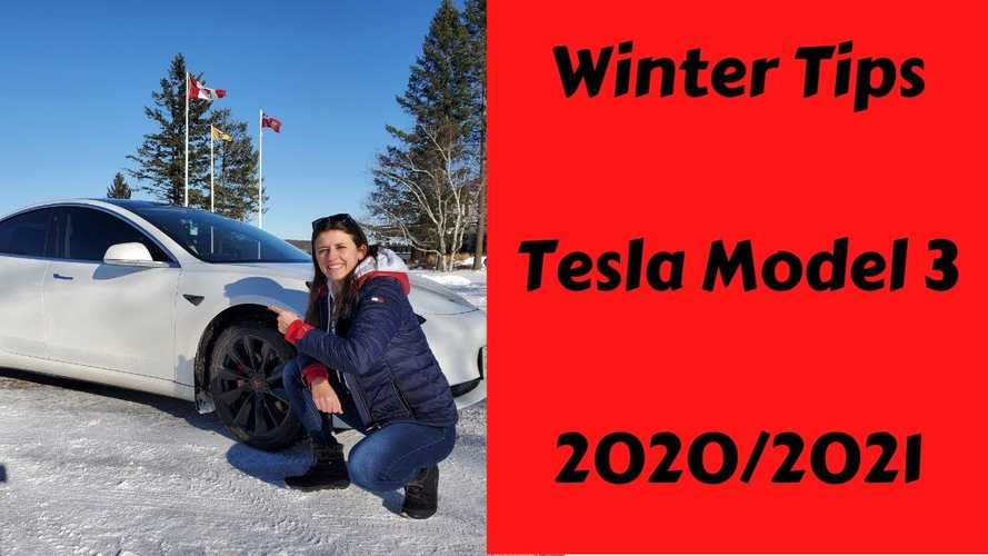 Compilation Of Tesla Model 3 Winter Driving Tips