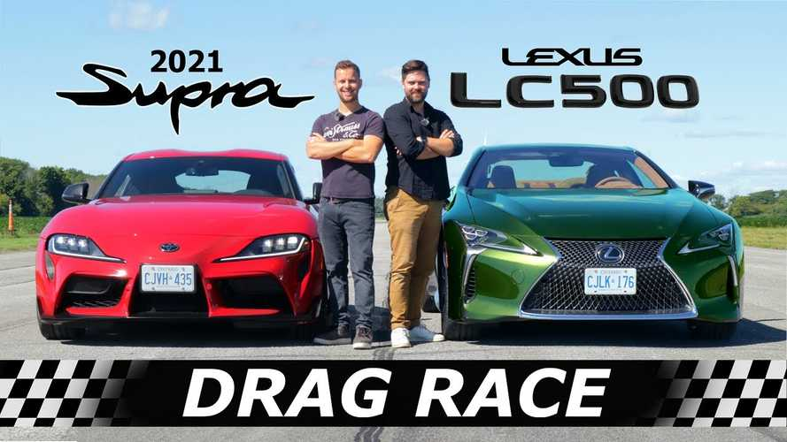 2021 Lexus LC500 Meets Toyota Supra In Family Drag Feud