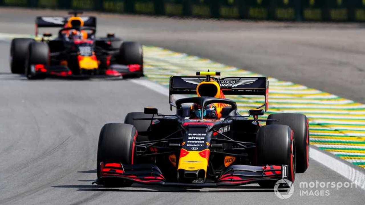 Alexander Albon and Max Verstappen at Brazilian GP 2019