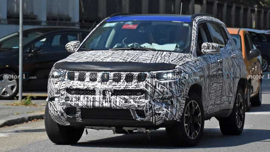 2022 Jeep Compass facelift spied with less camouflage