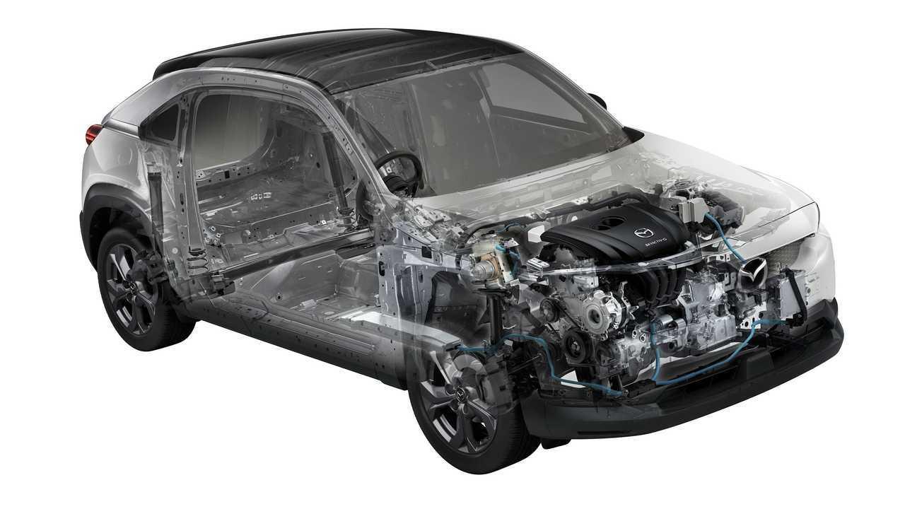 Mazda MX-30 with mild hybrid engine