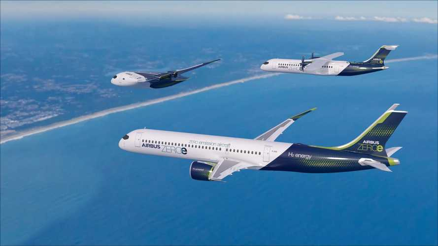 Airbus revela conceito de avião 100% elétrico movido a hidrogênio
