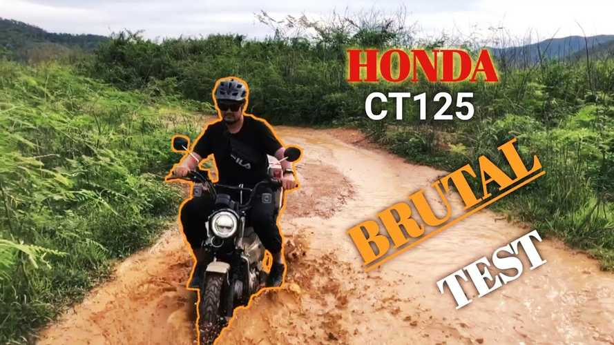 Watch A Dude Put His Honda CT125 Hunter Cub Through The Wringer