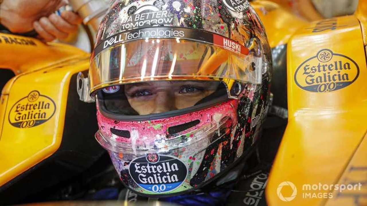 Lando Norris at Abu Dhabi GP 2020