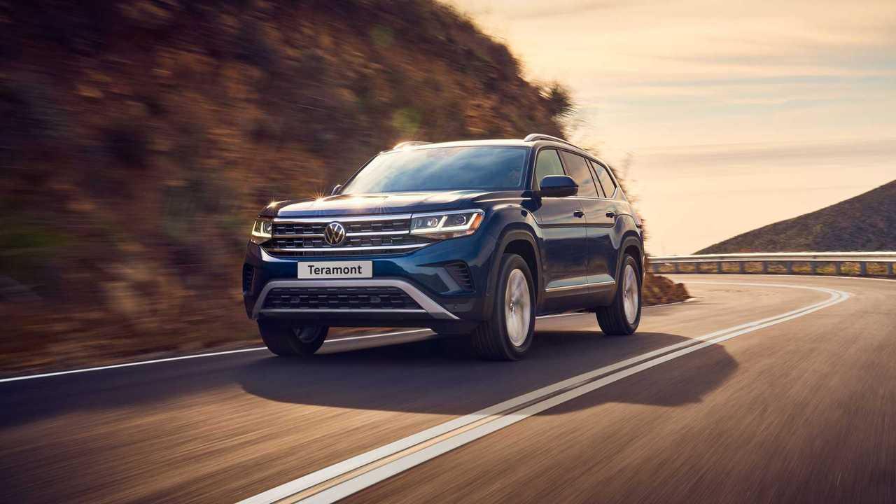 Обновленный Volkswagen Teramont,  вид спереди