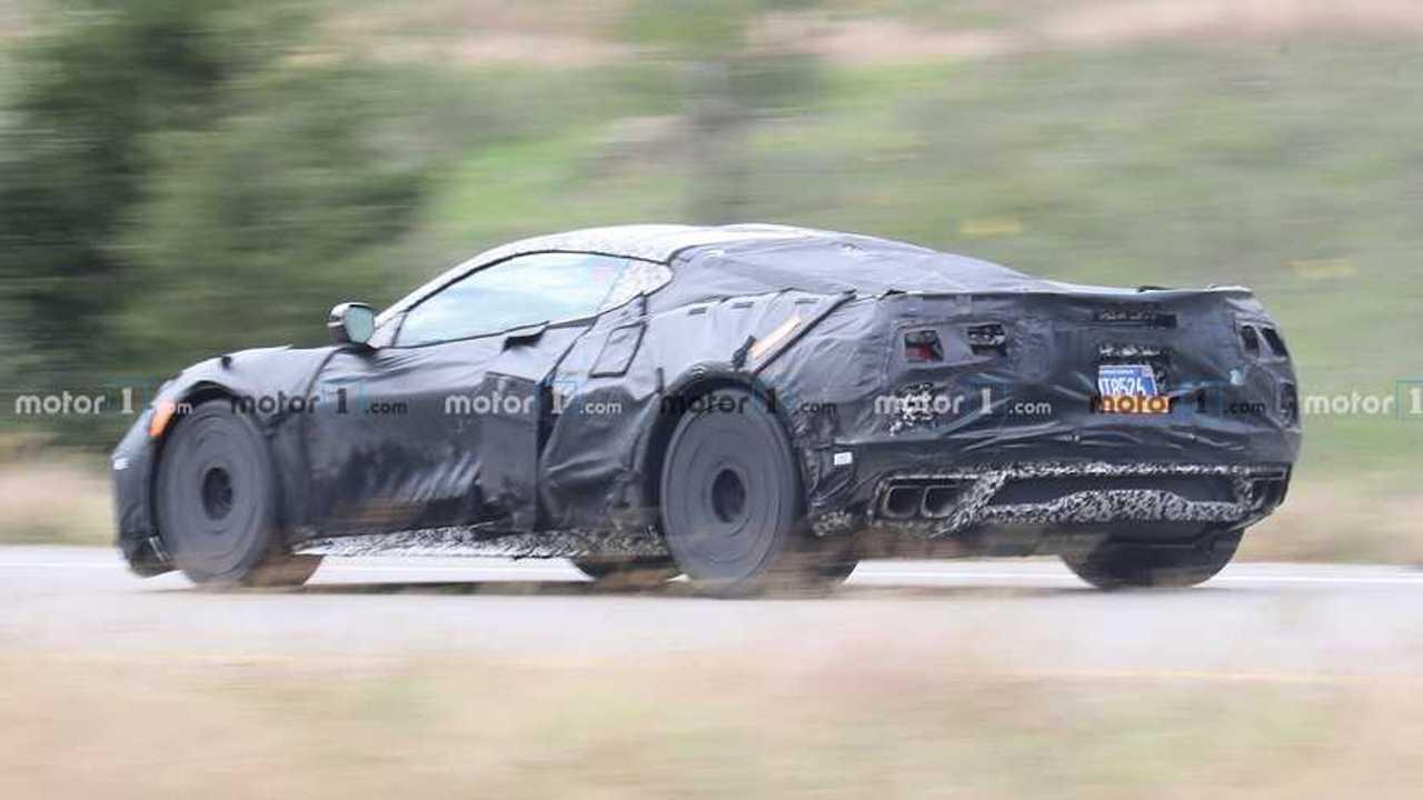 Chevrolet Corvette Z06 Spy Shots Back Side