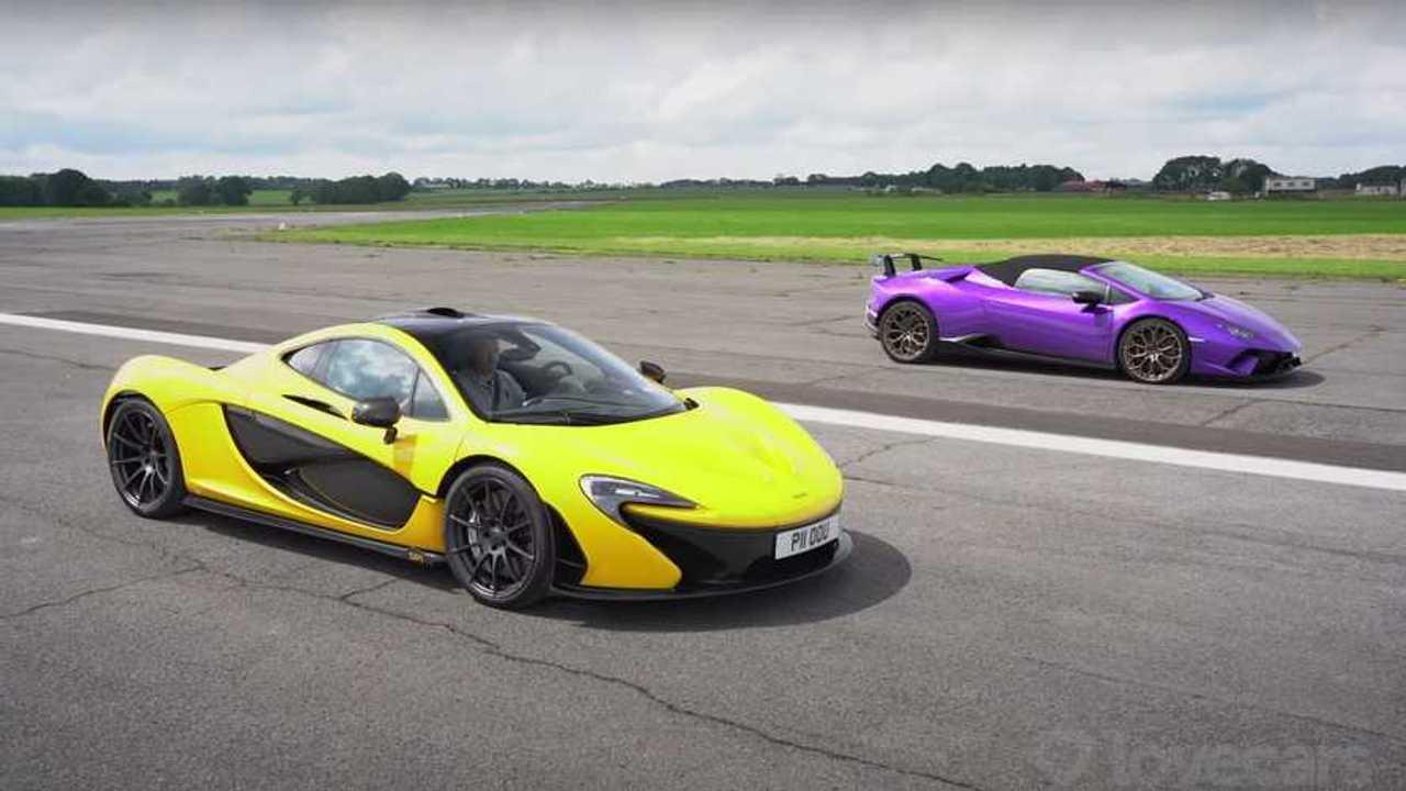 Huracan Performante Spyder vs McLaren P1 Drag Yarışı