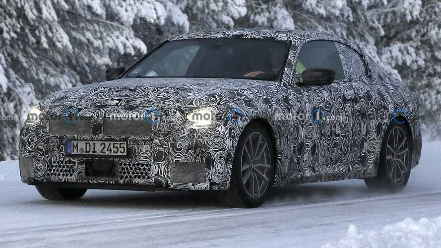 2022 BMW 2 Series Coupe Spied In The Cold Testing In A Lower Trim