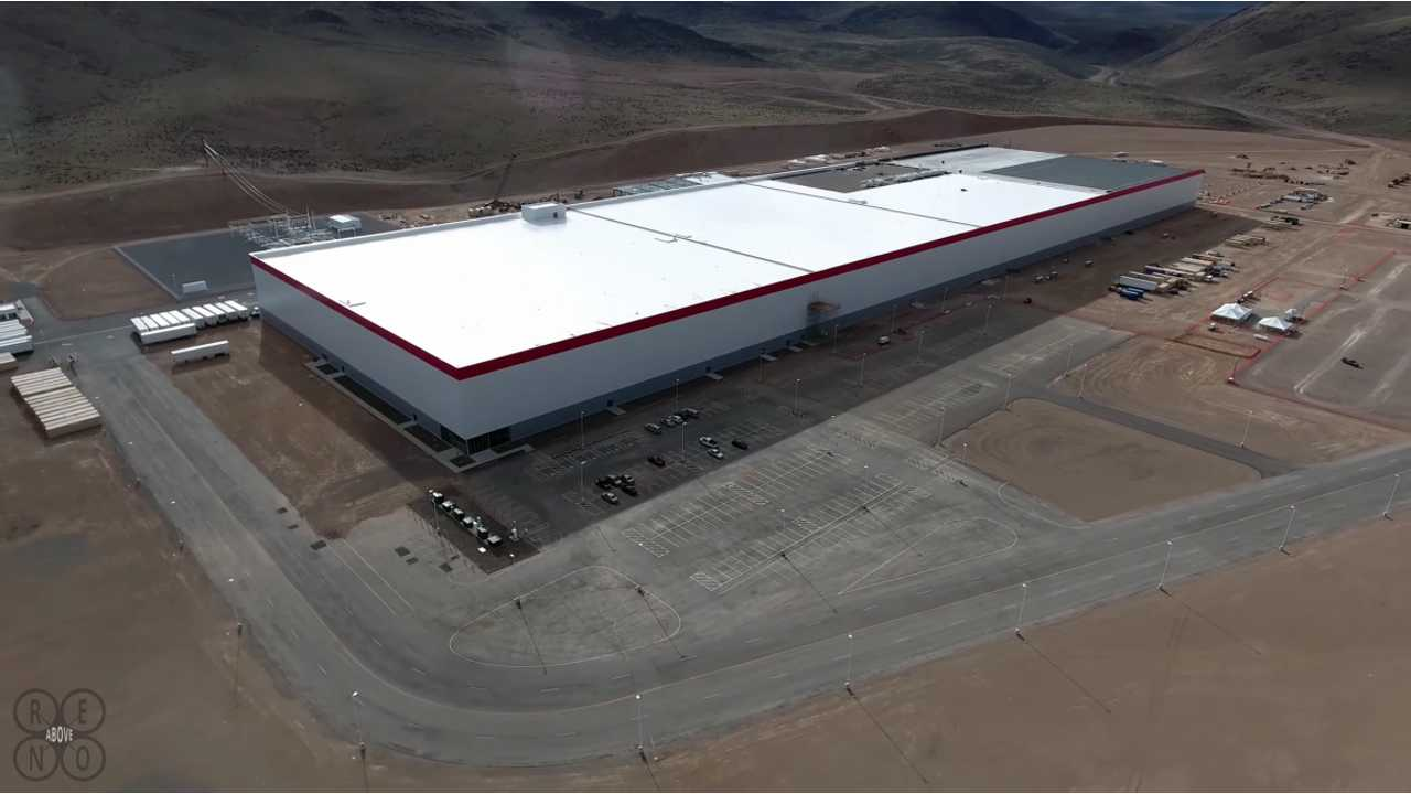 A recent picture of Tesla's Gigafactory under construction outside Reno, Nevada. Photo credit: Above Reno