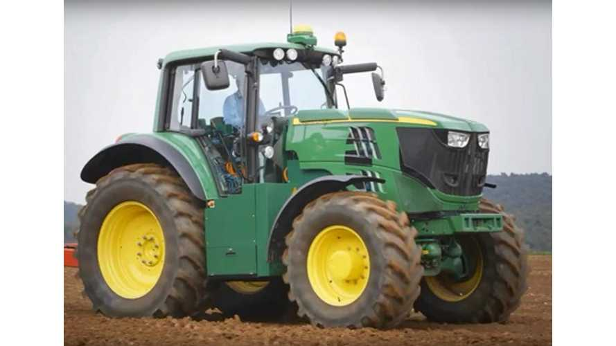 John Deere Reveals Electric Farm Tractor - (w/video)