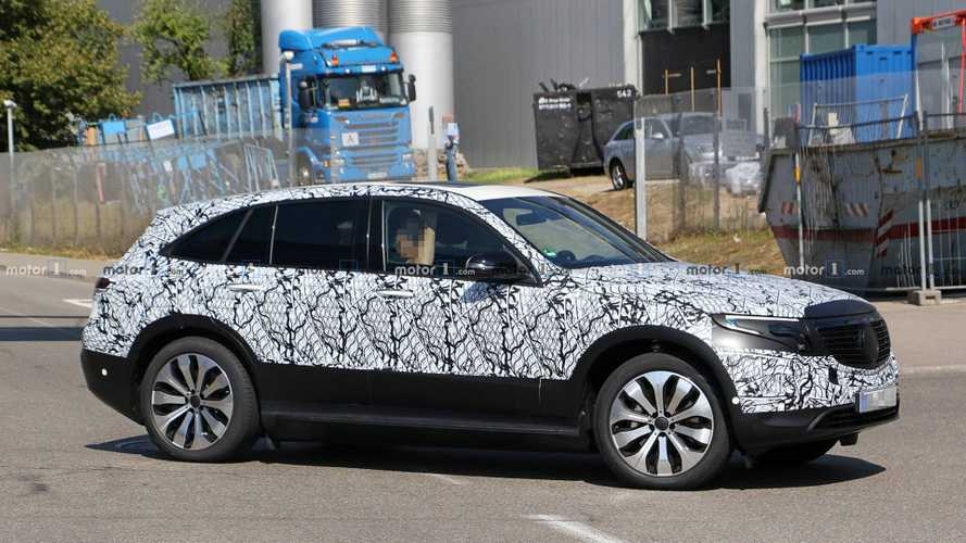 Mercedes EQ C Spied With Least Camo Yet, Plus Interior Shots
