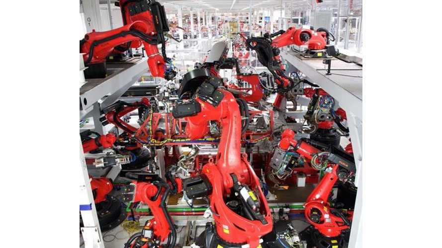Elon Musk: Second Production Line At Fremont Gets Revamped With 542 Robots