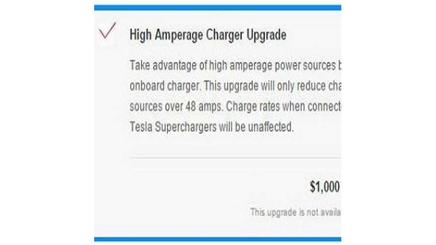 Optional 72 Amp Charger Available On Tesla Model X