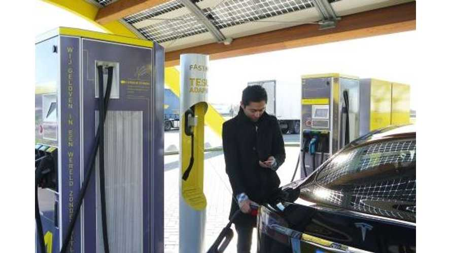 Fastned Adds Tesla CHAdeMO Charging Adapters At 50 Fast-Charge Sites