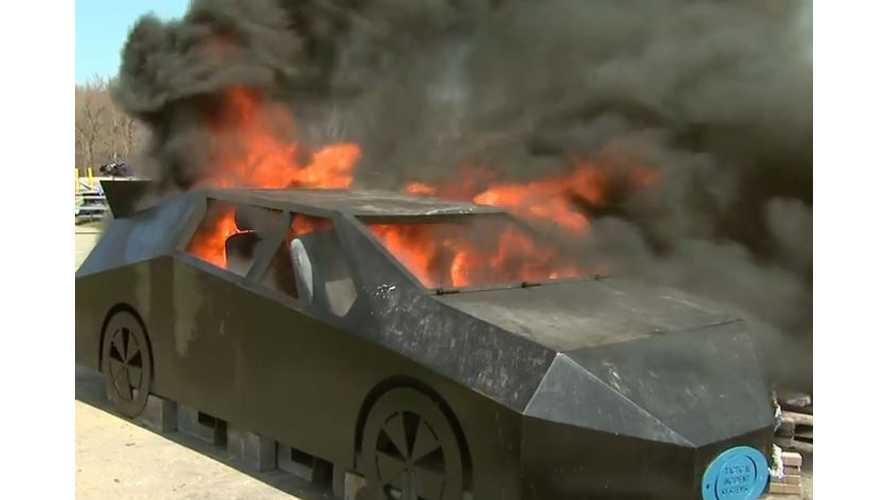Tactical Considerations For Extinguishing Electric Car Fire - Video