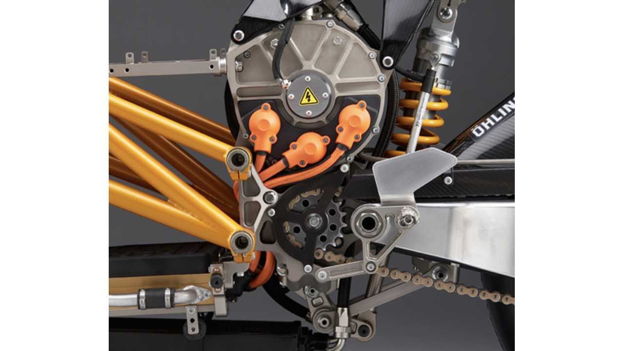 The Mission R powertrain