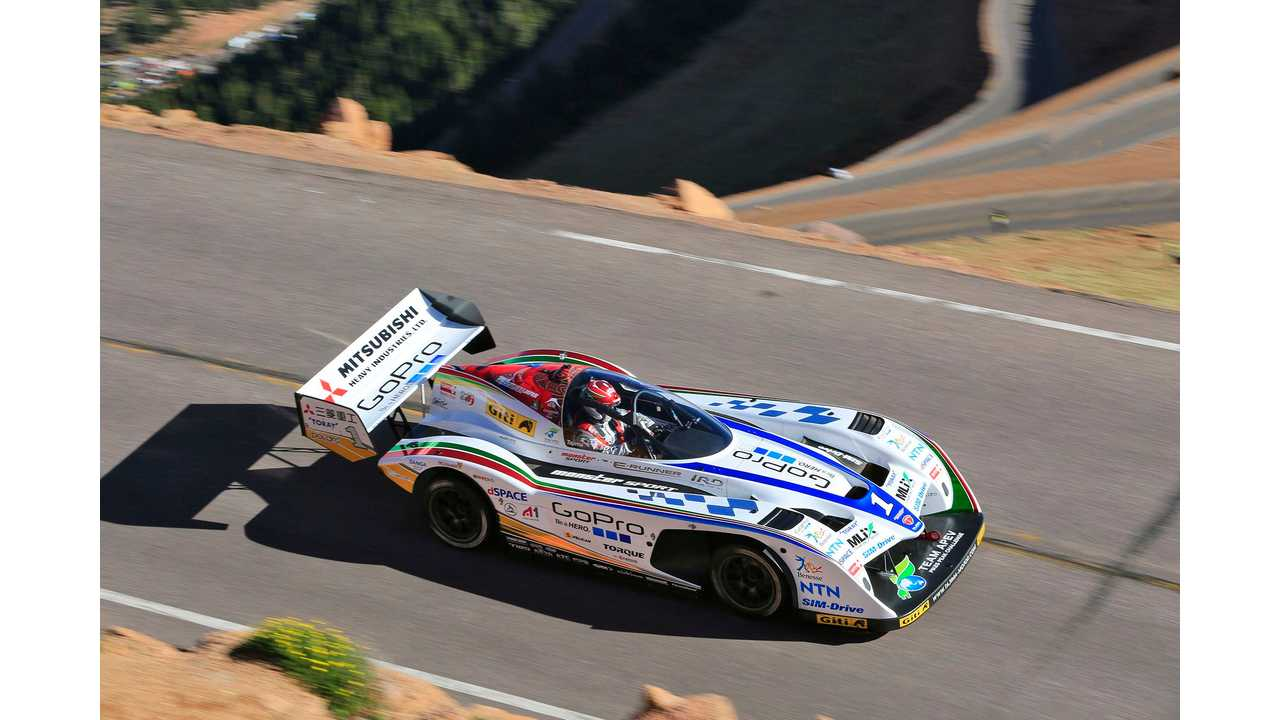 Mitsubishi Miev Evolution Iii Second Overall At 2017 Pikes Peak