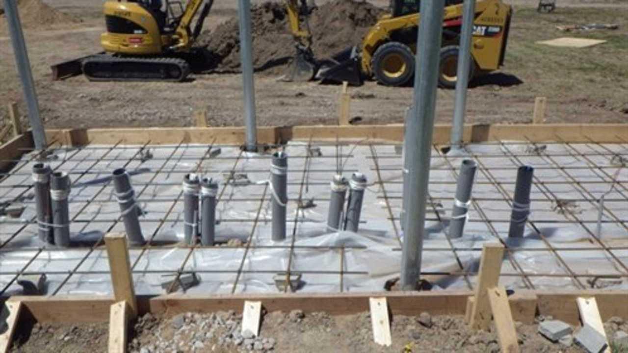 Tesla Supercharger under construction