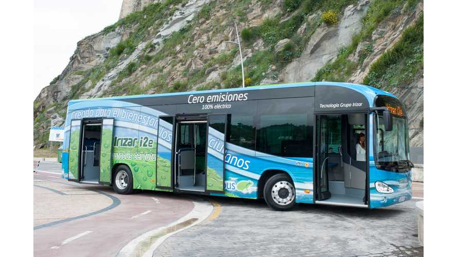 Irizar Introduces Electric Bus With 376 kWh Sodium Nickel Battery Pack