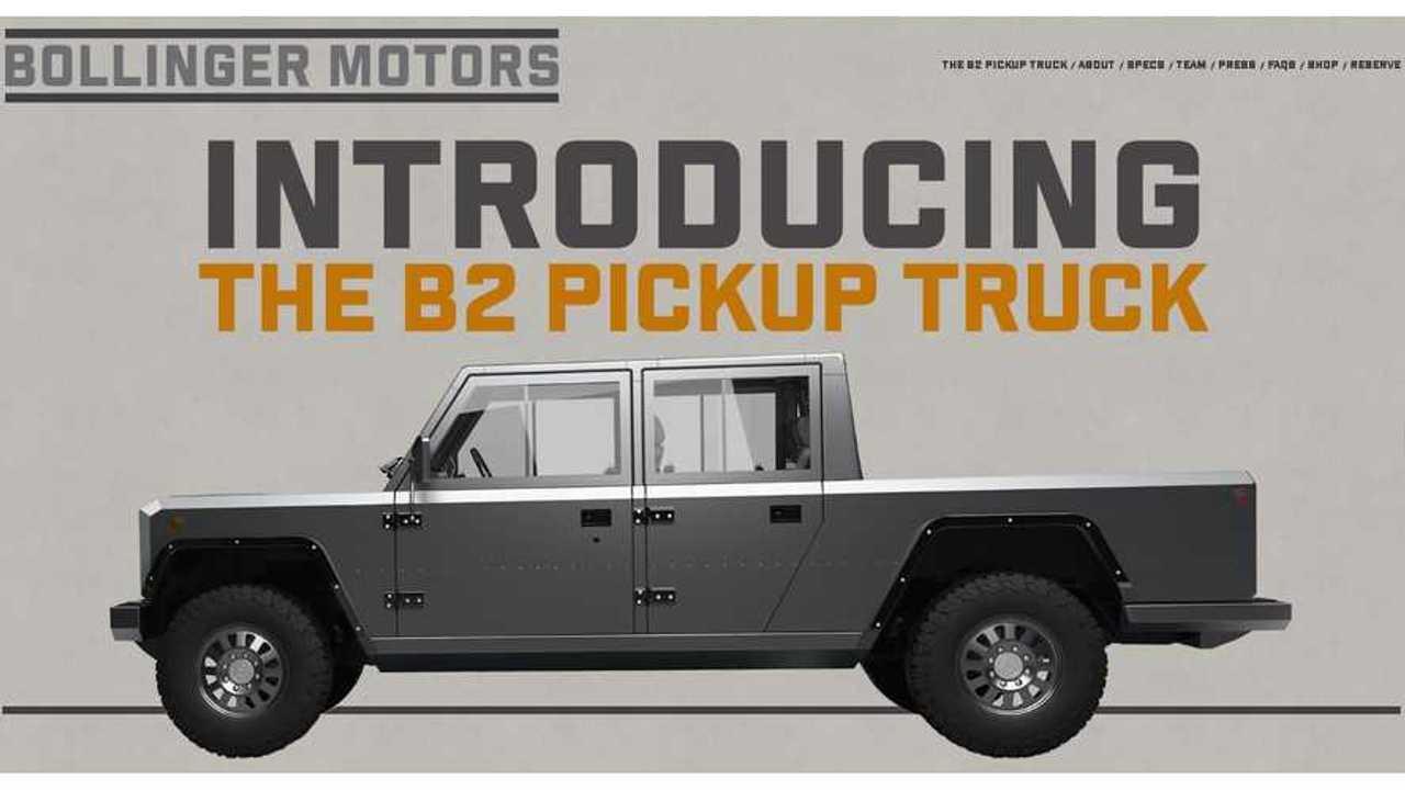 Bollinger Motors Announces New B2 Electric Pickup Truck