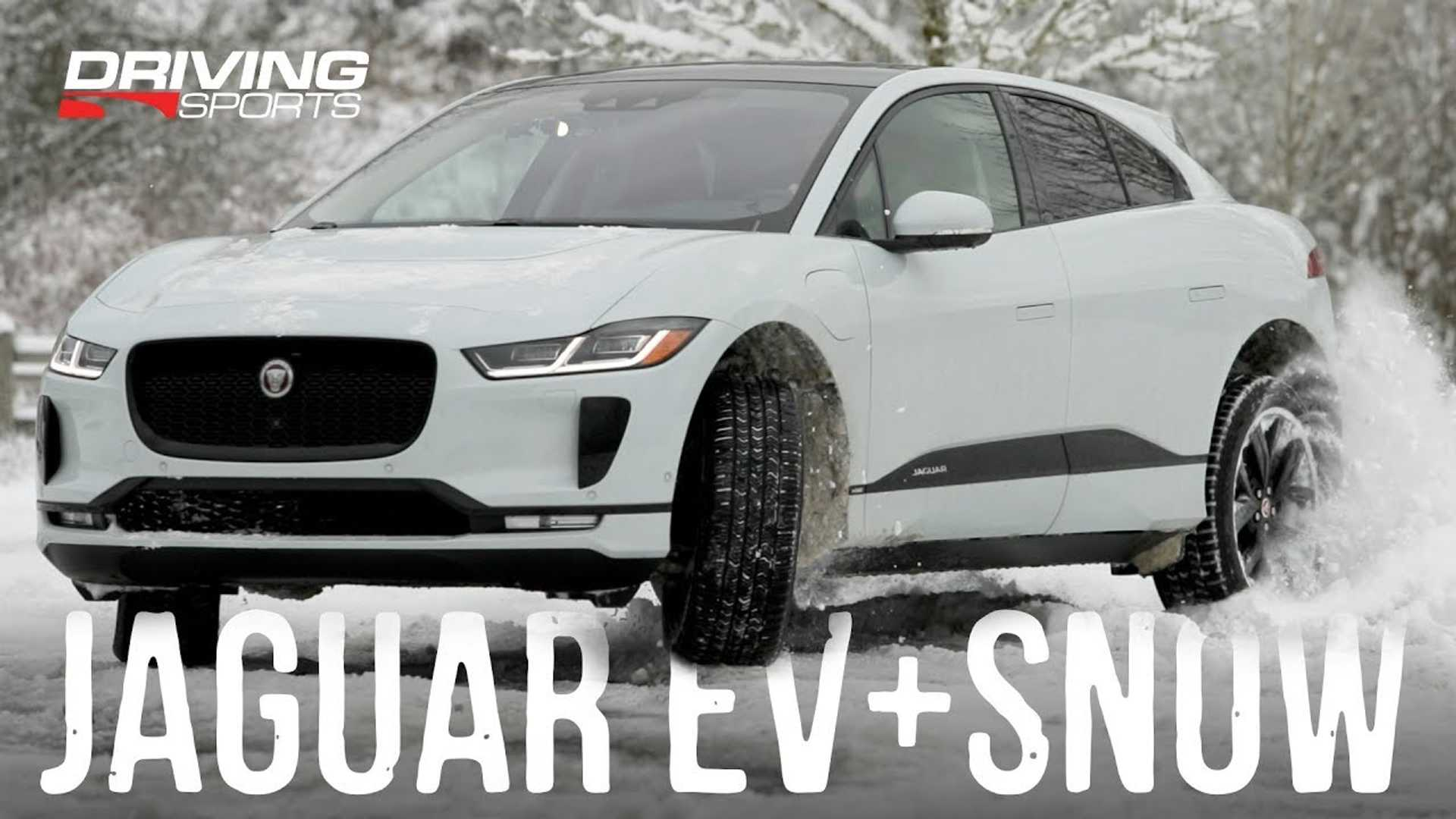 Watch Jaguar I-PACE Electric SUV Take On Snow & Ice