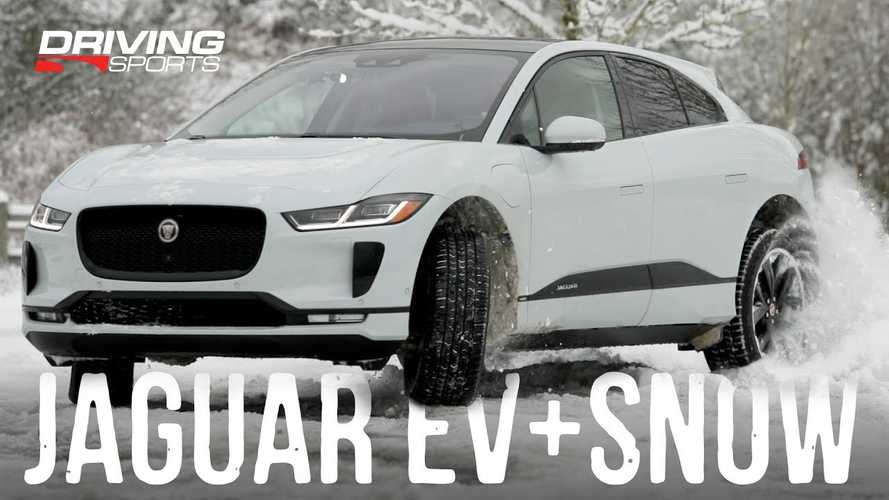 Watch Jaguar I-Pace Electric SUV Take On Snow & Ice: Video