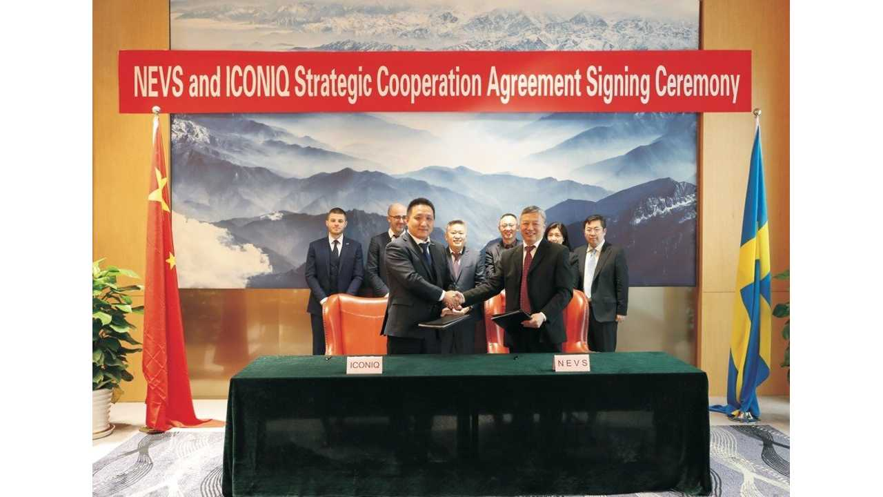 NEVS and ICONIQ forms a joint vehicle development partnership