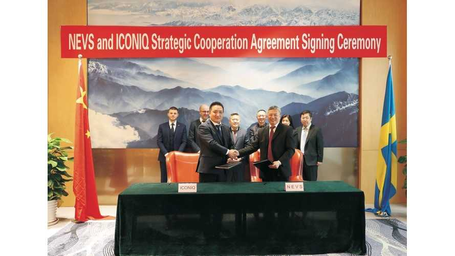 NEVS Forms a Joint Vehicle Development Partnership With ICONIQ Motors