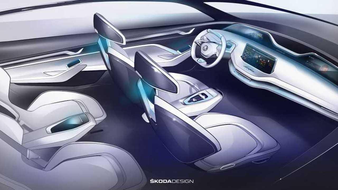 Skoda Vision E Concept Interior Revealed