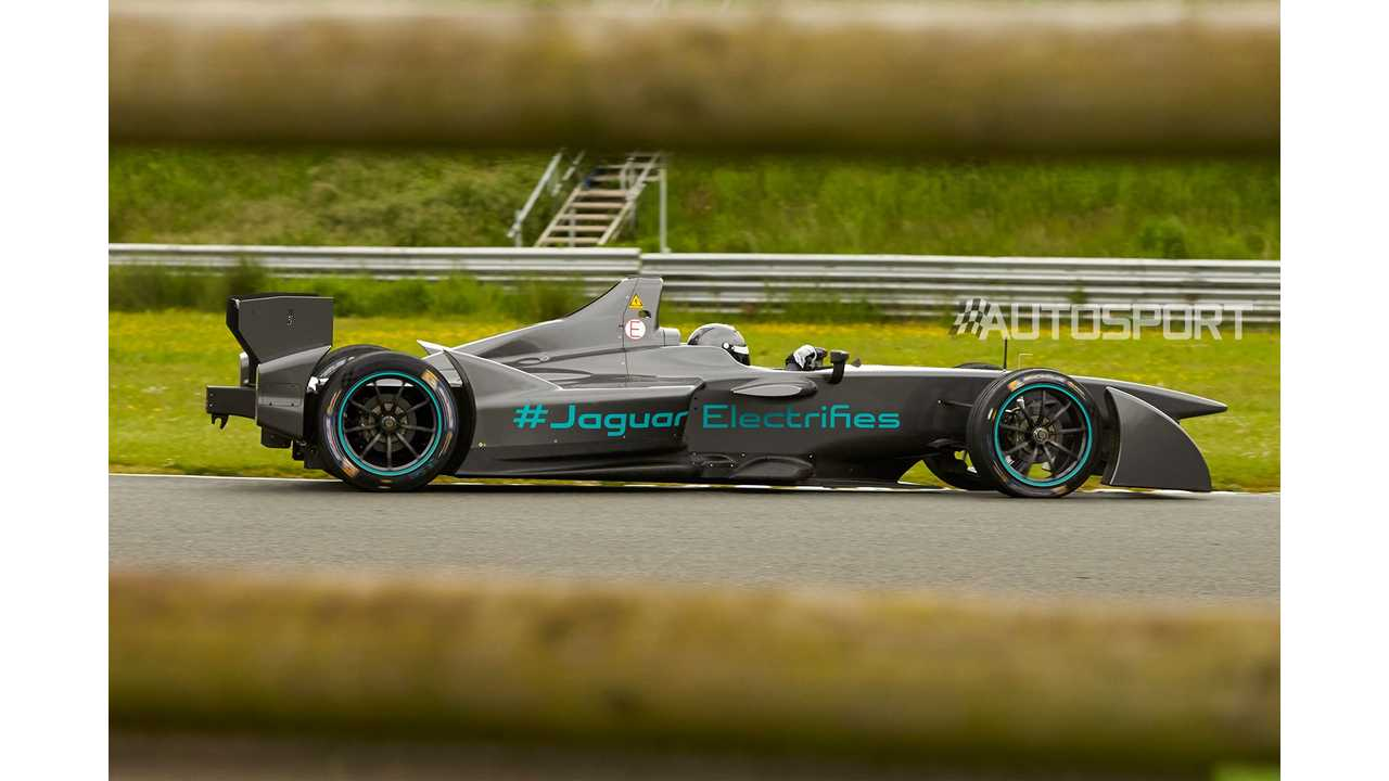 Jaguar Formula E Racer Spotted During Tests
