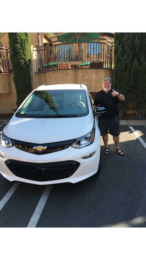 "Woz Chooses Chevrolet Bolt EV As ""Main Car"" After All - Picks Up January 3rd"