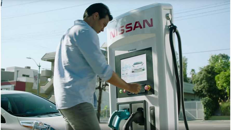 "Nissan LEAF Ad: Thanks To ""No Charge to Charge"", Charging Has Never Been Easier"