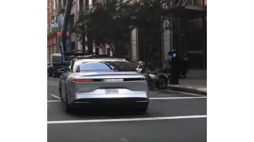 Lucid Air Spotted On Road In San Francisco - Videos