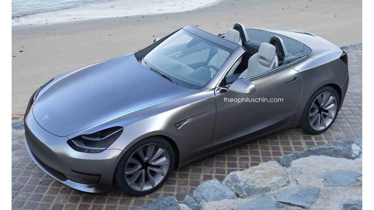 Tesla Model 3 Convertible Rendered